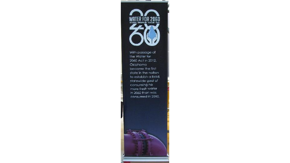 convention banner with text water for life 2060